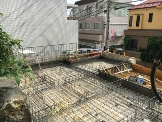 代々木アパートメント 耐圧コンクリート打設