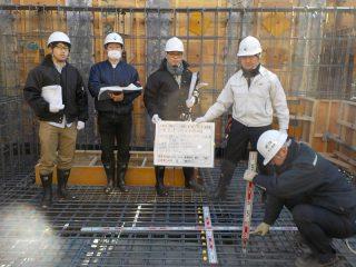 (仮称)TT-FLAT新築工事 B棟基礎配筋検査+耐圧コンクリート打設