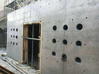 (仮称)TT-FLAT新築工事 B棟地下1階型枠バラシ他