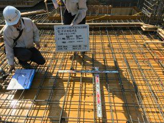 (仮称)TT-FLAT新築工事 A棟2階スラブ建込、B棟3階のコンクリート打設