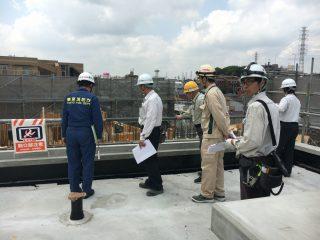 (仮称)TT-FLAT新築工事 消防中間検査