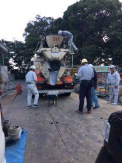 板橋の介護施設 基礎耐圧盤コンクリート打設立会い