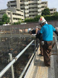 板橋の介護施設 基礎の配筋検査・基礎耐圧盤コンクリート打設立会い