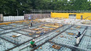 板橋の介護施設 1階スラブ配筋検査・コンクリート打設立会い