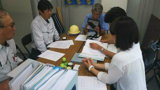 板橋の介護施設 中間検査及び2階床配筋検査