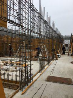 板橋の介護施設 3F壁配筋検査