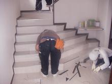 M'S Cafe現場リポート 石工事が始まりました。
