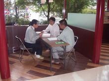 M'S Cafe現場リポート 建築確認検査機構による完了検査が行われました。