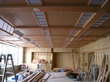 うらわ高砂 3階宴会場の天井完成