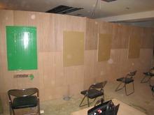 美容室 K  間仕切壁下地施工中
