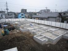 川越アパート現場リポート 基礎工事完了
