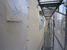 川越アパート現場リポート 外壁塗装開始