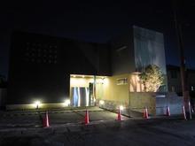 川越アパートメント A1-FLATの夜間照明テスト