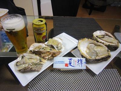 鳥取県産 天然岩牡蠣ブランド「夏輝」を頂きました。