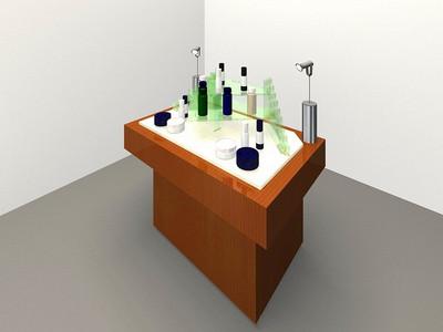 化粧品を飾るための家具を設計