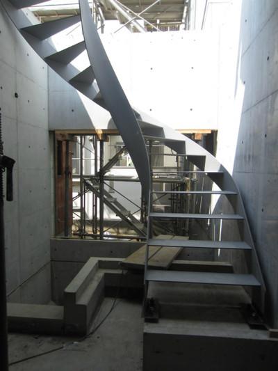 S邸 内部鉄骨階段設置
