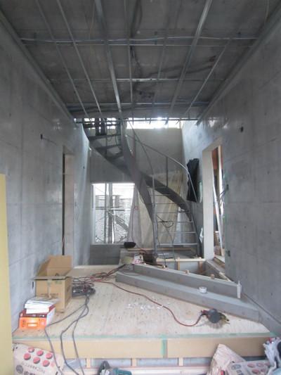 S邸 内部の下地工事中