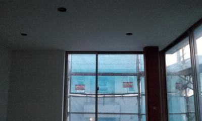 B-Office 内装下地ほぼ完成。外壁塗装に入ります。
