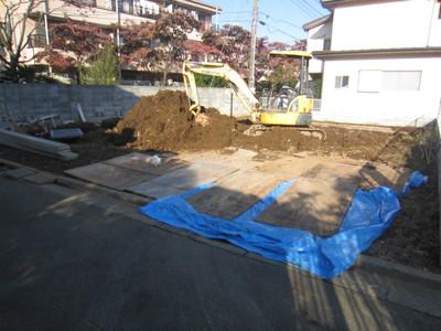 ハナミズキ通りの家 根切工事開始