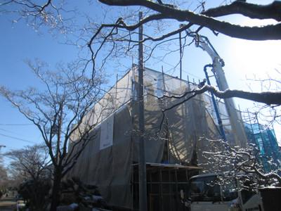 ハナミズキ通りの家 2階立上りコンクリート打設