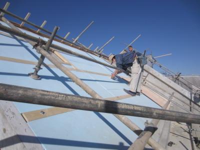 ハナミズキ通りの家 屋根下地工事