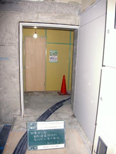ビルの耐震補強工事 進捗状況