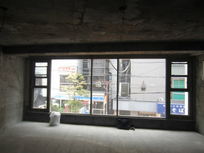 店舗設計の現地調査
