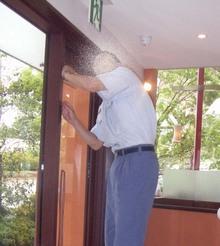 M'S Cafe現場リポート 消防署による完了検査が行われました。