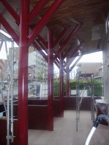 M'S Cafe現場リポート 足場がはずされました。