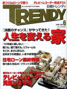 月刊誌「日経トレンディ」に岩瀬アトリエが紹介されました