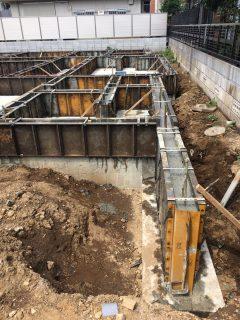 大宮 土手町の家 基礎立上りコンクリート打設