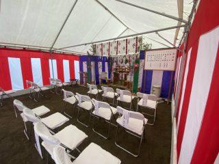 サンアイク茂原店新築工事 地鎮祭・建物位置確認