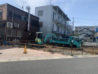 大寿司新築工事 根切工事